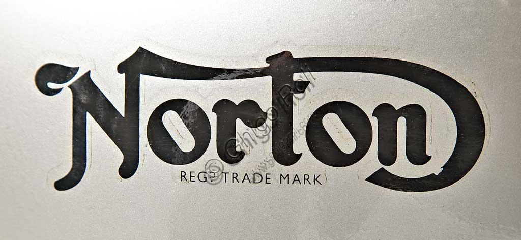 Ancient Motorbike Norton Manx GP 500. Trademark.