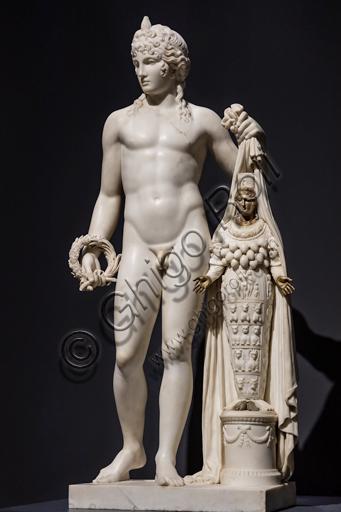 """""""Il Genio delle Arti rivela la Natura come Artemide Efesia"""", 1808-10, di Leopold Kiesling (1770 - 1827), marmo con inserti in bronzo."""