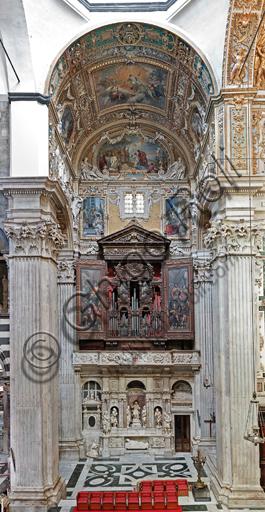 Genova, Duomo (Cattedrale di S. Lorenzo),  interno, Cappella Cybo (braccio settentrionale del transetto): veduta generale.