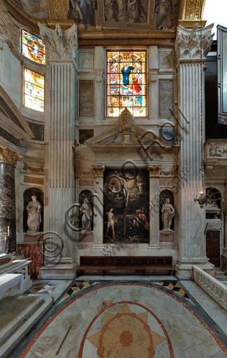 Genova, Duomo (Cattedrale di S. Lorenzo),  interno, Cappella Senarega o di Nostra Signora del Soccorso (abside meridionale): veduta della parete meridionale.