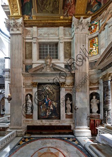 Genova, Duomo (Cattedrale di S. Lorenzo),  interno, Cappella Senarega o di Nostra Signora del Soccorso (abside meridionale): veduta della parete settentrionale.