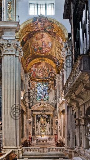 Genova, Duomo (Cattedrale di S. Lorenzo),  interno, Cappella Senarega o di Nostra Signora del Soccorso (abside meridionale): veduta generale.