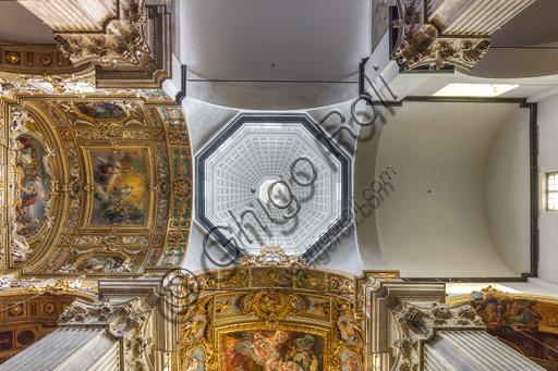 Genova, Duomo (Cattedrale di S. Lorenzo), interno: la cupola cinquecentesca sopra la navata centrale, di Galeazzo Alessi