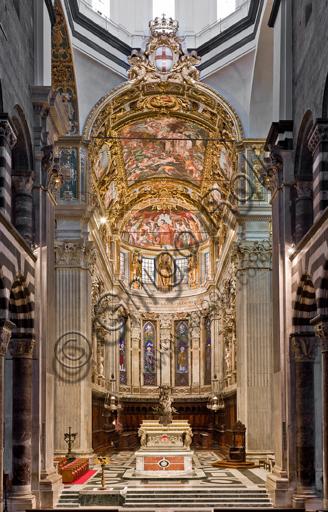 Genova, Duomo (Cattedrale di S. Lorenzo), interno: veduta del presbiterio.