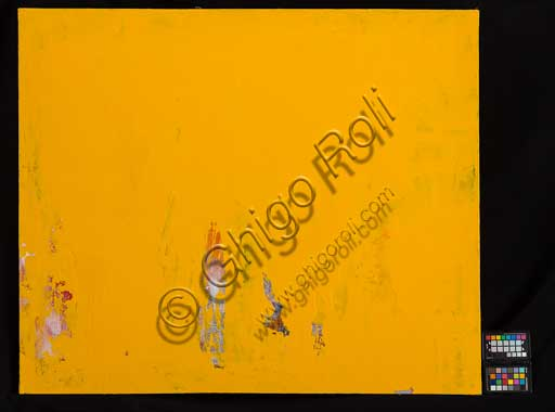 "Assicoop - Unipol Collection:Erio Carnevali (1949): ""Yellow"". Acrylic on canvas, cm 100 x 120."