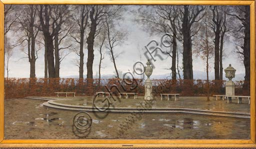 "Piacenza, Galleria Ricci Oddi: ""The Turin Royal Gardens after the March rains"", by Marco Calderini."