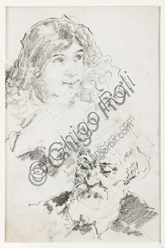"Assicoop - Unipol Collection: Unknown artist, ""Young girl and bearded old man""."