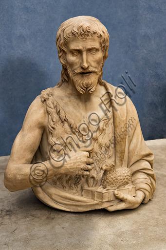 "Tuscan Sculptor: ""St. John the Baptist"", first quarter of XVI century, marble."