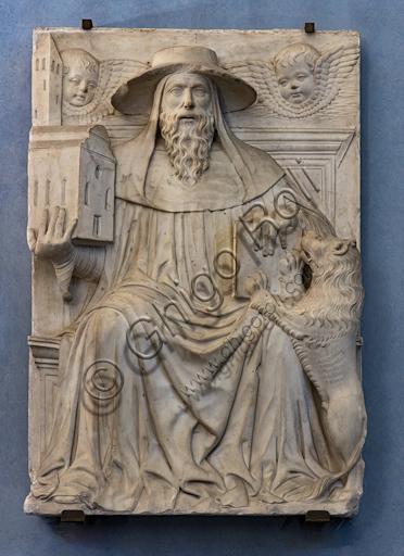 "Giovanni Buora: ""St. Jerome"", end XV century, marble."