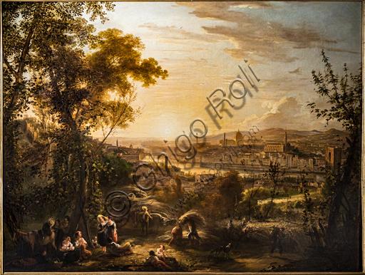 """Giovanni Signorini: """"La mietitura d'estate"""",  1856 , olio su tela."""