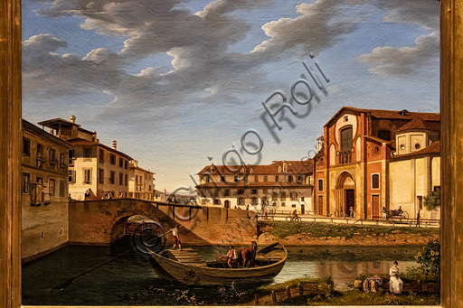 """Giuseppe Bisi: """"View of the Church of St. Mark"""", oil painting, 1823."""