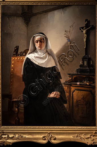 """Giuseppe Molteni: """"The Lady of Monza"""", oil painting, 1847."""