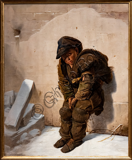 """Giuseppe Molteni: """"The Chimney Sweep"""", oil painting, 1840-5."""