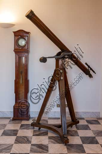"Palermo, The Royal Palace or Palazzo dei Normanni (Palace of the Normans), the Pisana Tower, The Astronomical Observatory ""Giuseppe Piazzi"": Merz telescope."