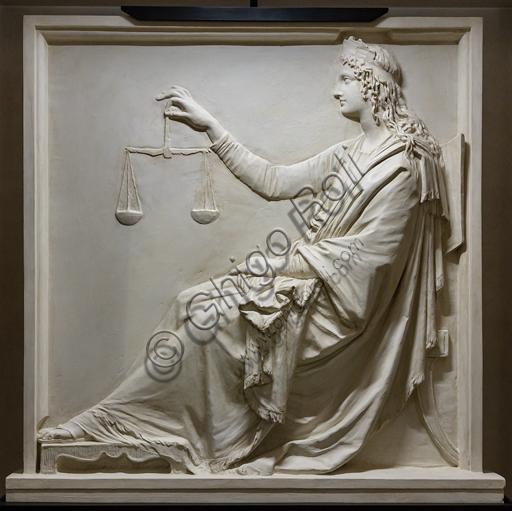 """""""La Giustizia"""", 1792, di Antonio Canova (1757 - 1822), gesso."""