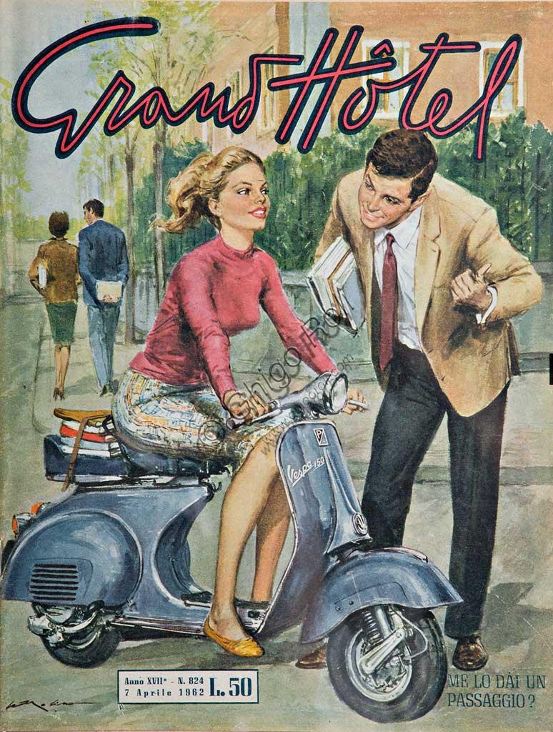 """Collezione Sergio Sciarpetti: riproduzione di una copertina di """"Grand Hotel""""."""