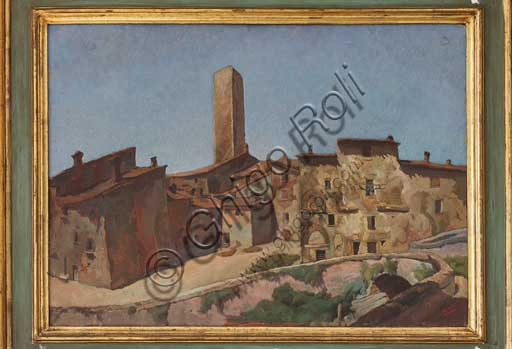 "Assicoop - Unipol Collection: Mario Vellani Marchi (1895 - 1979); ""Gubbio"" (Oil on plywood, 49 x 66)."
