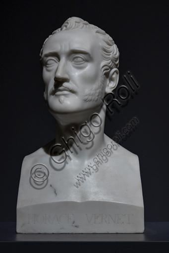 """Horace Vernet"", 1832-3, di Bertel Thorvaldsen (1770 - 1844), marmo."
