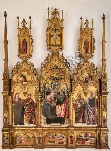 """Modena, Galleria Estense: polittico su fondo oro """"Incoronazione della Vergine e Santi"""", (1462 - 1466), tempera su tavola , cm. 288 x 220 , di Agnolo e Bartolomeo degli Erri."""