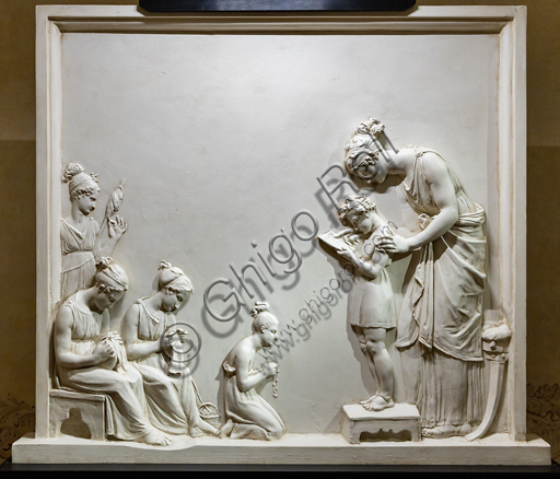 """""""Insegnare agli ignoranti"""", 1795, di Antonio Canova (1757 - 1822), gesso."""