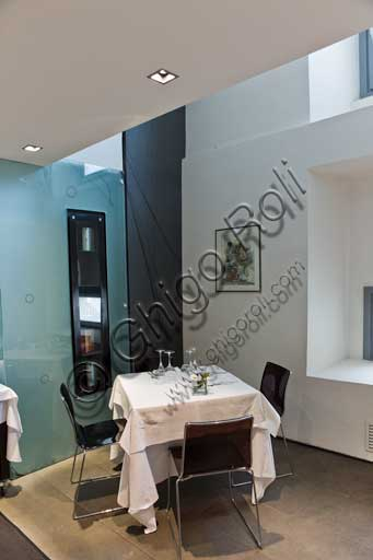 L' interno del ristorante Casa Artusi.