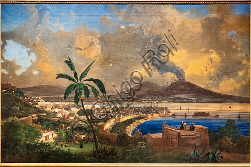"""Ippolito Caffi: """"Viewo of Naples"""", oil painting, 1846."""
