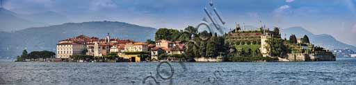 Isola Bella: the village, the Borromeo Palace and its park with the Italian garden.