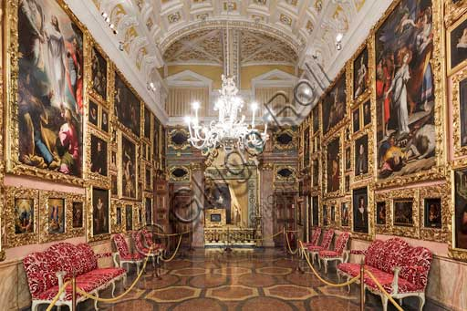 Isola Bella, the Borromeo Palace: the Painting Gallery or General Berthier Gallery.