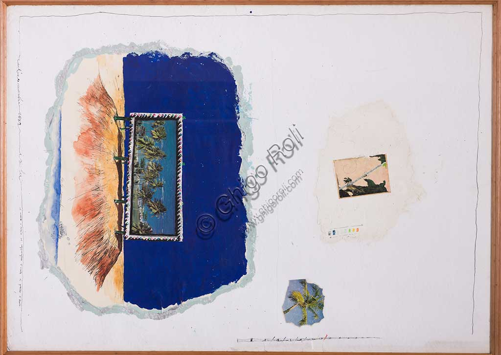 "Assicoop - Unipol Collection: Carlo Cremaschi (1943), ""Island"". Mixed media."
