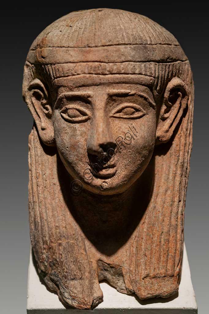 Island of San Pantaleo, Motya, Whitaker Museum: phoenician mask for the Tophet (open air sanctuar).
