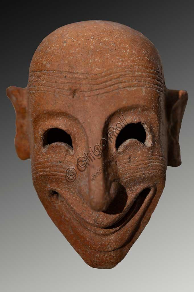 Island of San Pantaleo, Motya, Whitaker Museum: phoenician mask from the Tophet (open air sanctuary).