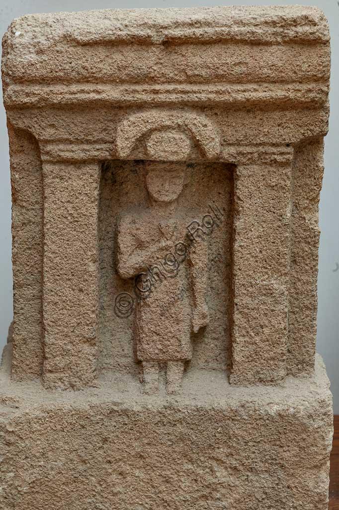 Island of San Pantaleo, Motya, Whitaker Museum: phoenician stele from the Tophet (open air sanctuary).