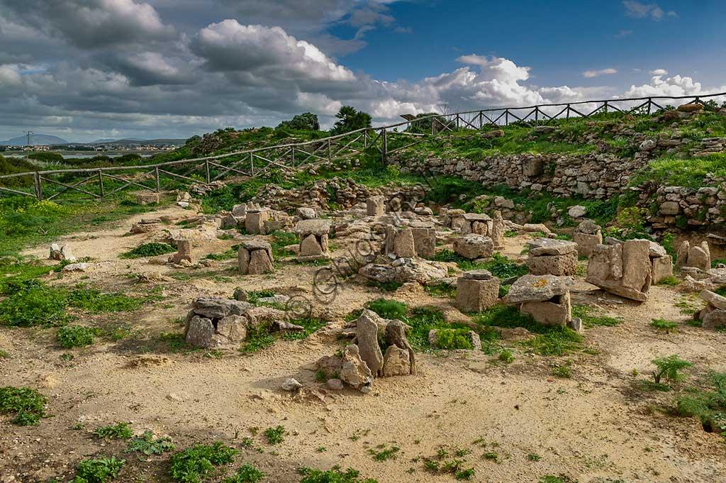 Island of San Pantaleo, Motya, Whitaker Museum: view of the Tophet (open air sanctuary).
