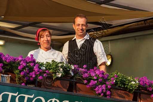 Isola Pescator, Imbarcadero Restaurant: the owners, Laura e Michele Negri.