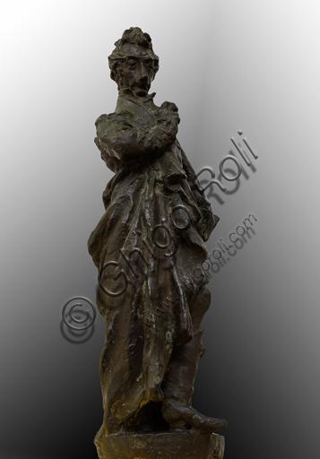 "Ivo Soli (1898-1976), ""Carlo Porta""; bronzo; H cm. 75."