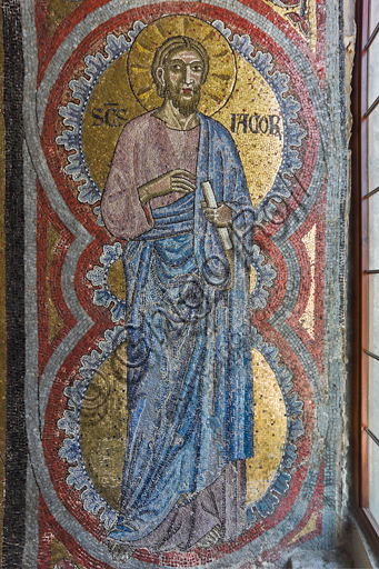 Florence, the Baptistery of St. John, the matronea,  East gallery, first matroneum (of the Angels hierarchies): mosaics by the school of the Master of San Gaggio and of the Master of St. Cecilia (about 1300 - 1310). Detail representing St. Jacob.