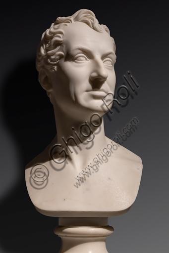 """""""Klemens von Metternich"""", 1819, di Bertel Thorvaldsen (1770 - 1844), marmo."""
