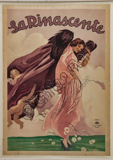 """""""La Rinascente"""", Illustration for the advertising poster by Marcello Dudovich, 1921, chromolithography on paper."""