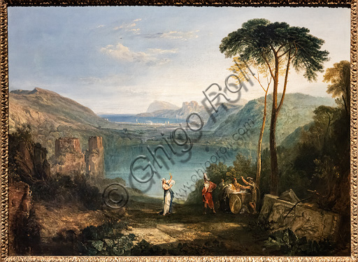 "Joseph Mallord William Turner: ""The Lake of Avernus, Aeneas, the Cumaean Sybil"", oil painting, 1814-5."