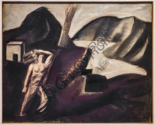 """Museo Novecento: """"Lago di montagna"""", di Mario Sironi, 1928. Olio su tela."""
