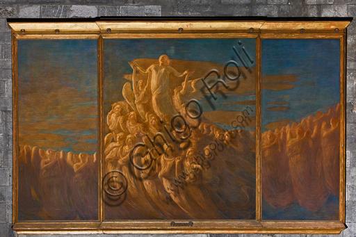 """Genova, Duomo (Cattedrale di S. Lorenzo), interno, navata meridionale, parete meridionale: """"L'Assunzione della Vergine"""", di Gaetano Previati, 1903."""