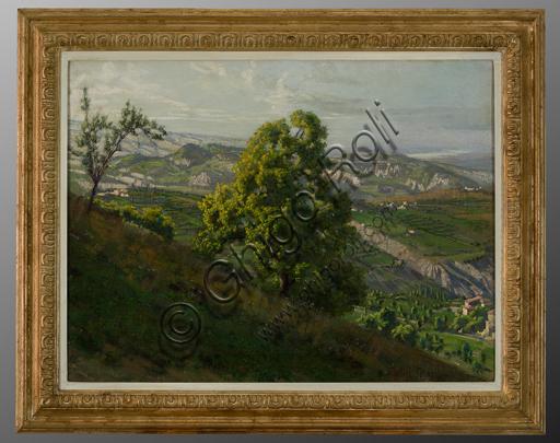 "Gaetano Bellei (1857 - 1922): ""Da Ligorzano, Modena"" (olio su tela, 58 x 76 cm)."