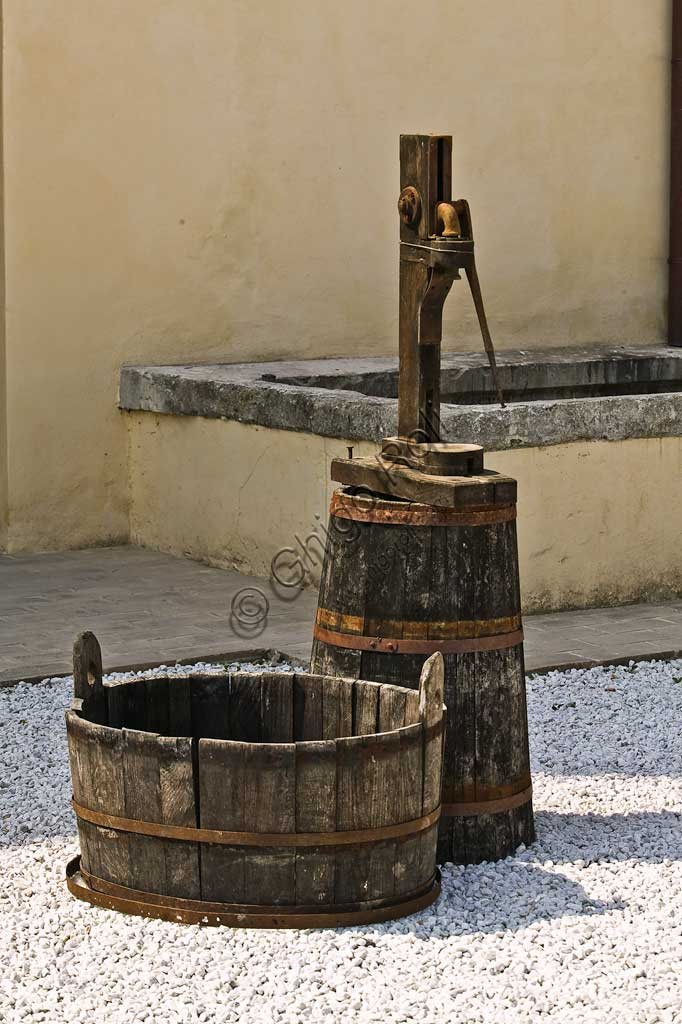 Winery Scacciadiavoli (in Cantinone locality) which produces the Sagrantino wine of Montefalco: vats.