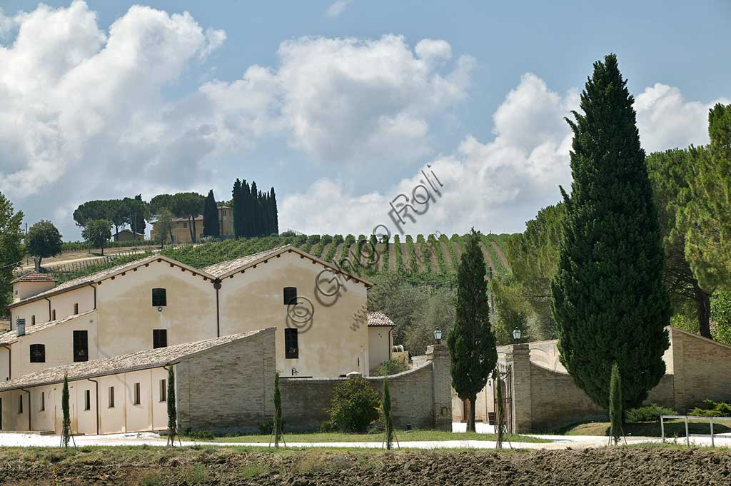 Winery Scacciadiavoli (in Cantinone locality) which produces Sagrantino wine of Montefalco.
