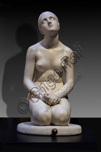 "Lorenzo Bartolini: ""Faith in God"", marble sculpture, 1835."