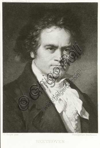 """""""Ludwig van Beethoven"""", photogravure based on a painting by Carl Jaeger."""