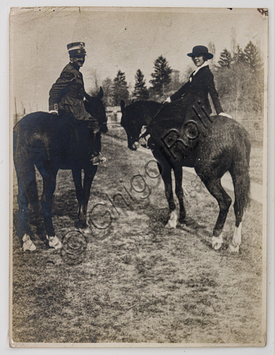 """""""The Military Officer and the Amazon"""", bromide silver gelatine by Marcello Dudovich,  1910."""