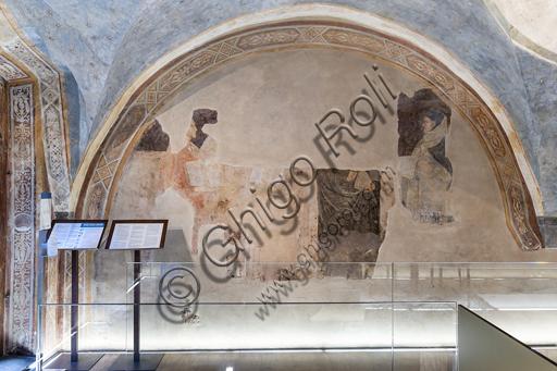 """""""Lunetta dei poeti"""", con i ritratti di Dante e Boccaccio. Affreschi di Jacopo di Cione (fratello dell'Orcagna) su programma iconografico di Coluccio Salutati (1366-1406), conservati nel Palazzo dell'Arte dei Giudici e Notai, o del Proconsolo a Firenze."""