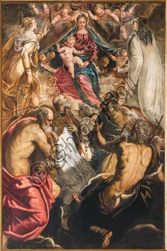 """Modena, Galleria Estense,: """"Madonna con Bambino e Santi"""" (1550)di Jacopo Robusti, conosciuto come il Tintoretto."""