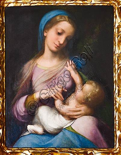 """Modena, Galleria Estense: """"Madonna con Bambino o Madonna Campori"""", (1517 - 1518) del Correggio (Antonio Allegri). Olio su tavola."""